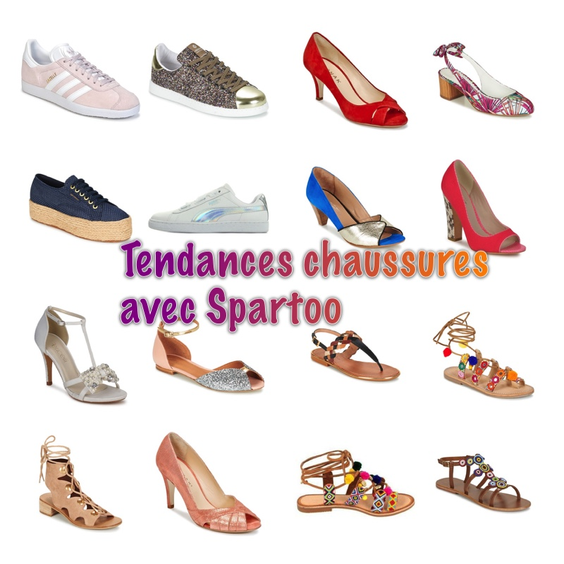 Les tendances du printemps: shoes graphic