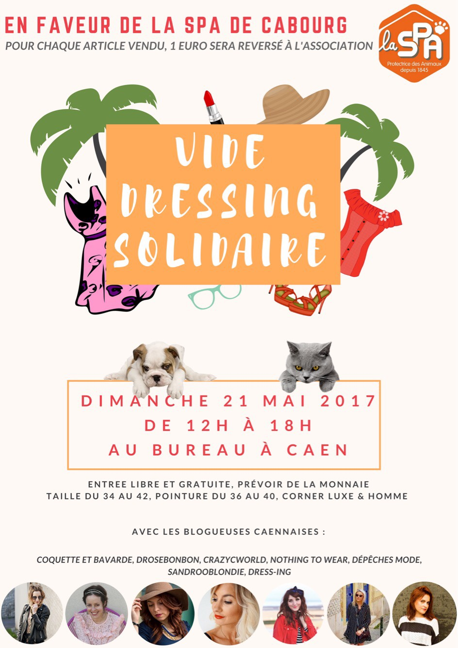 Vide dressing solidaire graphic